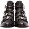 Black studded ankle motorcycle boots - Boots - $89.25