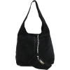 Black suede handbag - Hand bag -