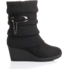 Black wedge suede boots - Boots -