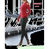 Black womens stirrup yoga leggings - Leggings - $23.00
