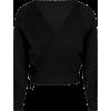 Black wrap top crossover ballerina - Cardigan -