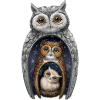 Blake Jensen nesting owl figurine set - Illustrations -