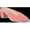 Block Heel Mules - Loafers -