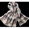 Block check Jacquard cashmere poncho - Scarf -