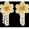 Bloom 24k Gold-Plated Pearl Earrings By - Earrings -