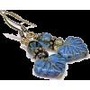 Blue Glass Bead Boho Earrings - Kolczyki - $19.00  ~ 16.32€