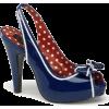 Blue Patent Slingback Platform Sandal - 9 - Sandals - $52.00
