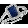 Blue Sapphire Engagement Ring - Obroči - $1,829.00  ~ 1,570.90€