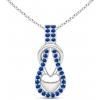 Blue Sapphire Knot Pendant - Ogrlice - $469.00  ~ 2.979,36kn