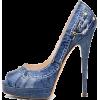 Blue  Denim Heel - Classic shoes & Pumps -
