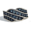 #Blue #Diamond #Band #Ring - Rings - $63.00