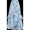 Blue Floral Skirt - Röcke -