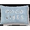 Blue. Fluffy. Pillow. Good Vibes - Furniture -