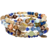 Blue Green Coil Bracelet - Pulseras -