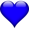 Blue Heart Clear Background clipart - Illustrations -