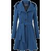 Blue Miss Etam coat - Jacket - coats -