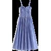 Blue Plaid Strapless Sling Dress - Dresses - $29.99
