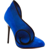 Blue Swirl Heel - Classic shoes & Pumps -