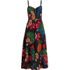 Blue and Red Tropical Sundress - Anderes -