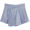 Blue and White Pleated Houndstooth Skirt - Faldas - $25.99  ~ 22.32€