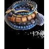 Blue and brown bracelet - Браслеты -