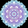 Blue and purple mandala - Illustrations -