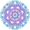 Blue and purple mandala - Rascunhos -