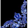 Blue corner vector - Illustrazioni -