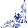 Blue corner vector - Illustrations -