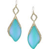 Blue lucite crystal gold earrings - 耳环 -