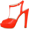 Blumarine Platforms Red - Platformke -