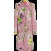 Blumarine pink floral coat - Jacket - coats -