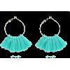 Bohemian Alloy Blue Tassel Earrings Nhgy295245 - Earrings -