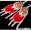 Boho Feather Earrings - Orecchine -
