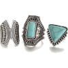 Boho Turquoise Rings - Rings -