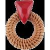 Bohrmian Bamboo Rattan Earring - Серьги -