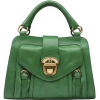 Green Handbag - Clutch bags -