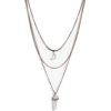 Boohoo Rose Crystal Moon Layered Necklac - Necklaces - £4.00  ~ $5.26
