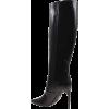 Boots Women Off White Black - Buty wysokie -