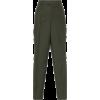 Bottega Veneta Cropped Cotton-Twill Stra - Spodnie Capri -