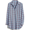 Boyfriend Popover Tunic in Plaid - Camisa - longa -