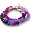 Bracelets with agate gemstones - Pulseras - $23.00  ~ 19.75€