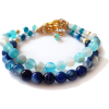 Bracelets with agate gemstones - Bracelets - $23.00