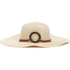 Braided-Trim Floppy Straw Hat - Hat -