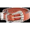Braided-buckle leather waist-belt - Belt -