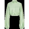 Brandon Maxwell Cropped Gathered Satin B - Camisa - longa - $1.30  ~ 1.11€