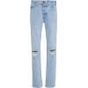 Brandon Maxwell Distressed Cropped Boot - Jeans -
