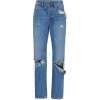 Brandon Maxwell Distressed High-Rise Boy - Jeans - $595.00  ~ 511.04€