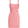 Brandon Maxwell  Linen Weave Column Mini - Dresses -