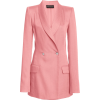 Brandon Maxwell Linen Weave Double Breas - Jacket - coats -